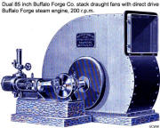 85 inch Buffalo Forge stack draught fan with direct drive Buffalo Forge engine